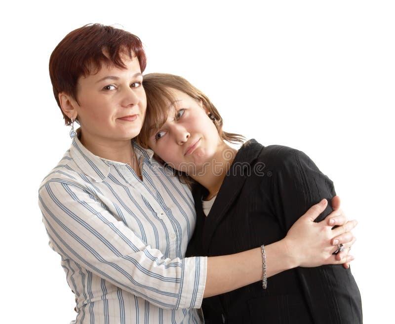 Madre y la hija fotografía de archivo libre de regalías