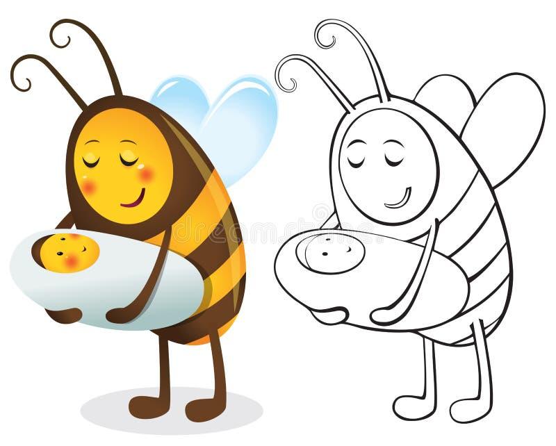 Madre y niño de la abeja libre illustration
