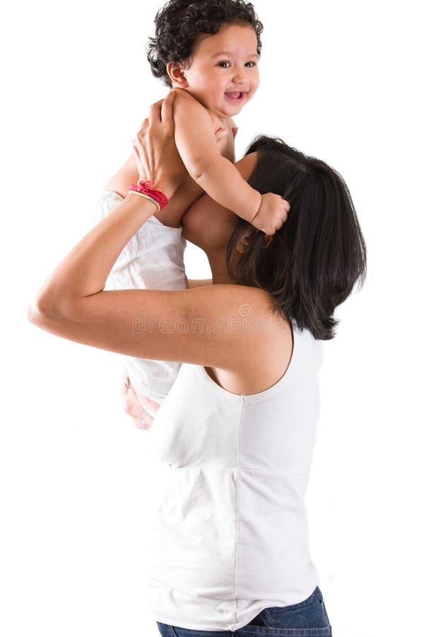 Madre y niño del indio del este imagen de archivo libre de regalías