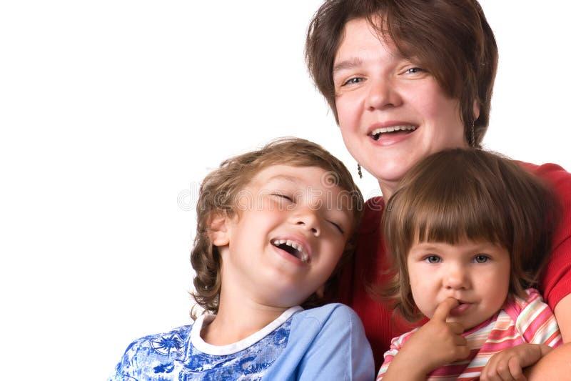 Madres del retrato con los niños fotografía de archivo