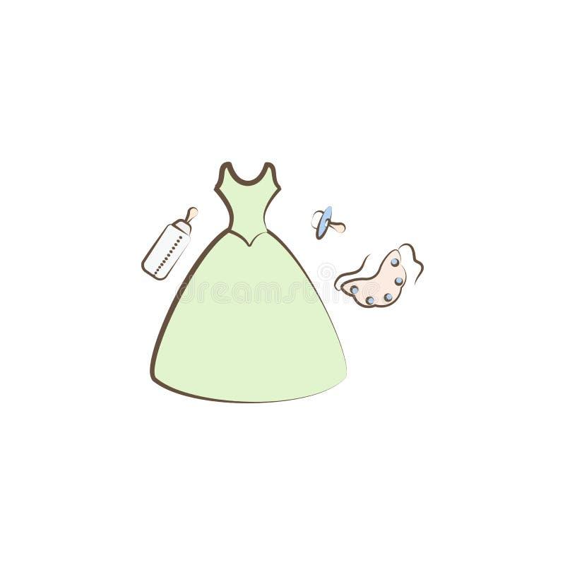 Madres e icono del bebé Elemento del icono del día de la madre para los apps móviles del concepto y del web Las madres y el icono ilustración del vector
