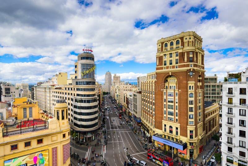 Madri, arquitetura da cidade da Espanha fotografia de stock