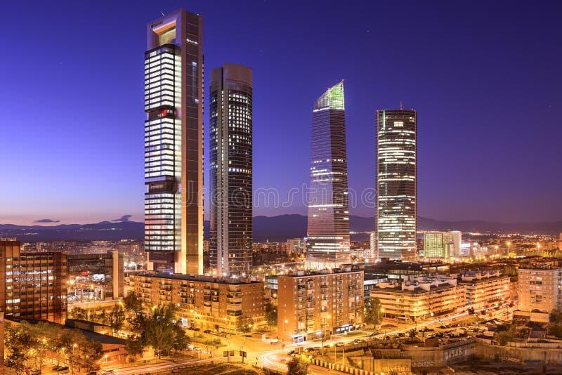 Madri, distrito financeiro da Espanha imagem de stock