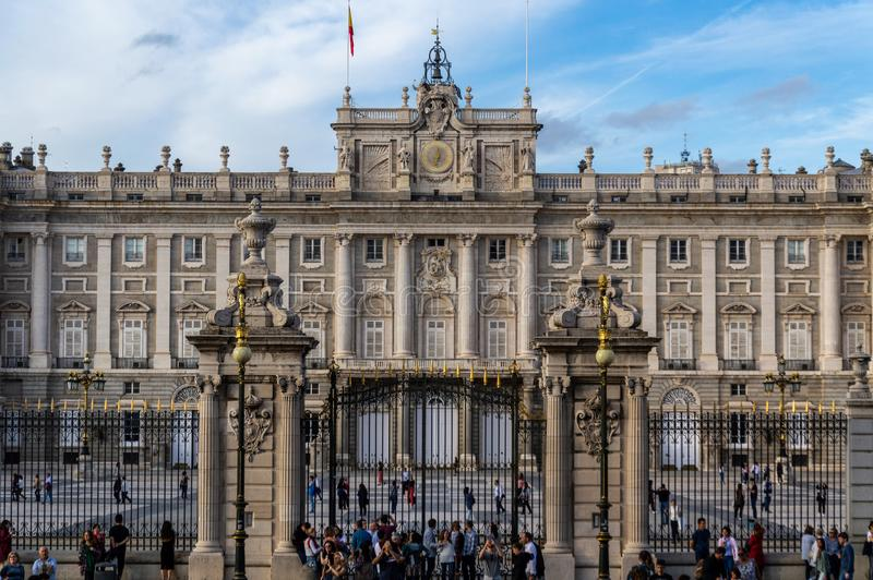 Madri real do en de Palacio foto de stock royalty free