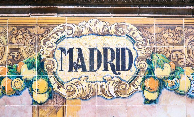 Madrid Crit Sur Des Azulejos Photo Stock Image 45569419