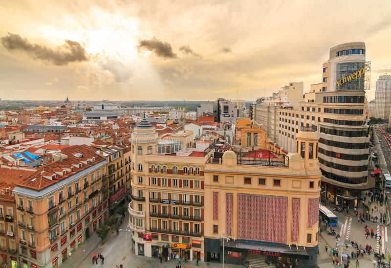 Madrid lizenzfreie stockfotos