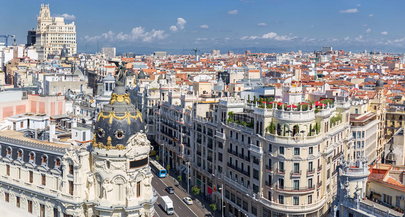 Madrid, Aerial View, Spain royalty free stock photos