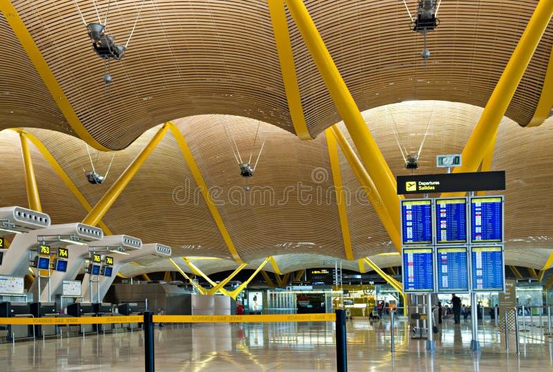 Madrid airport stock photo