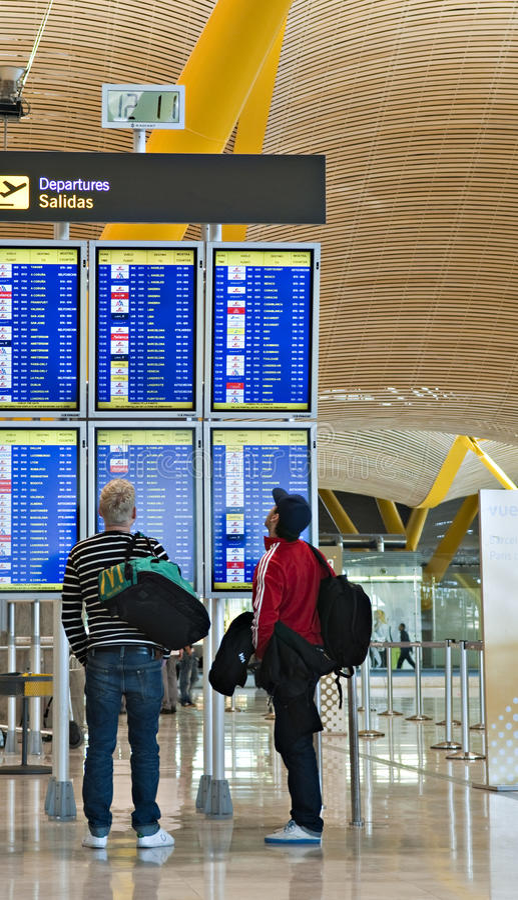 Madrid airport stock image