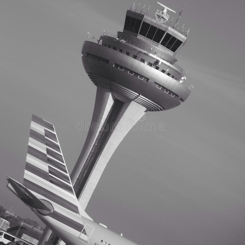 Madrid airport royalty free stock photography