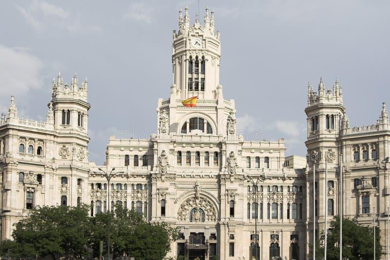 Madrid, bureau de poste image stock