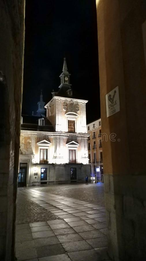 Madrid calle del codo stock foto
