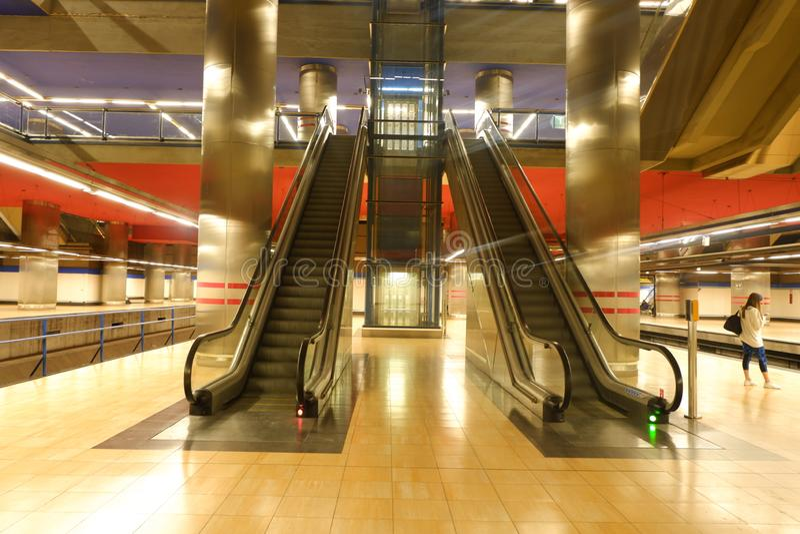 Madrid Chamartin metro and railway station stock photography