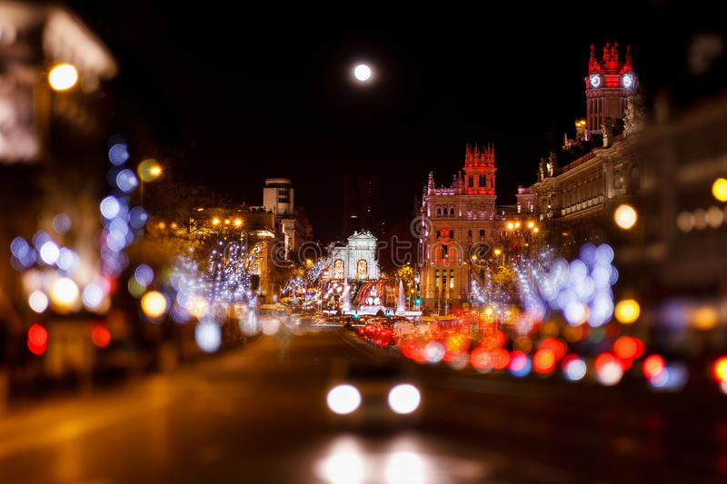 Madrid at Christmas stock photo