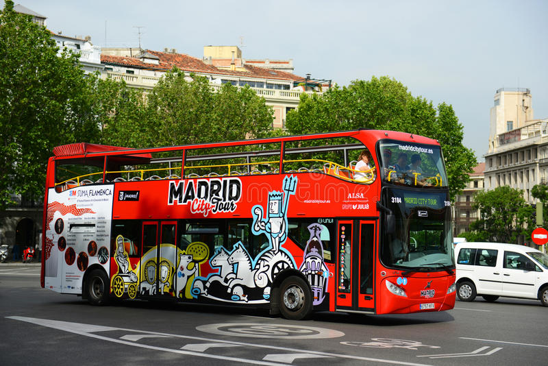 Madrid City Tour Bus, Madrid, Spain stock photography