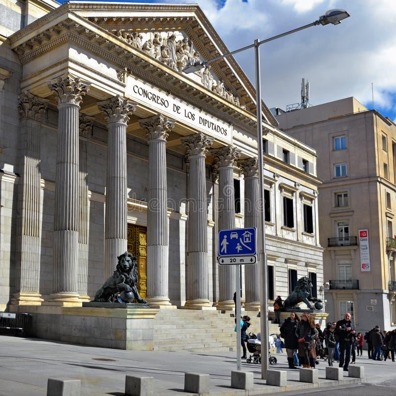 Madrid, Cortes fotografie stock libere da diritti