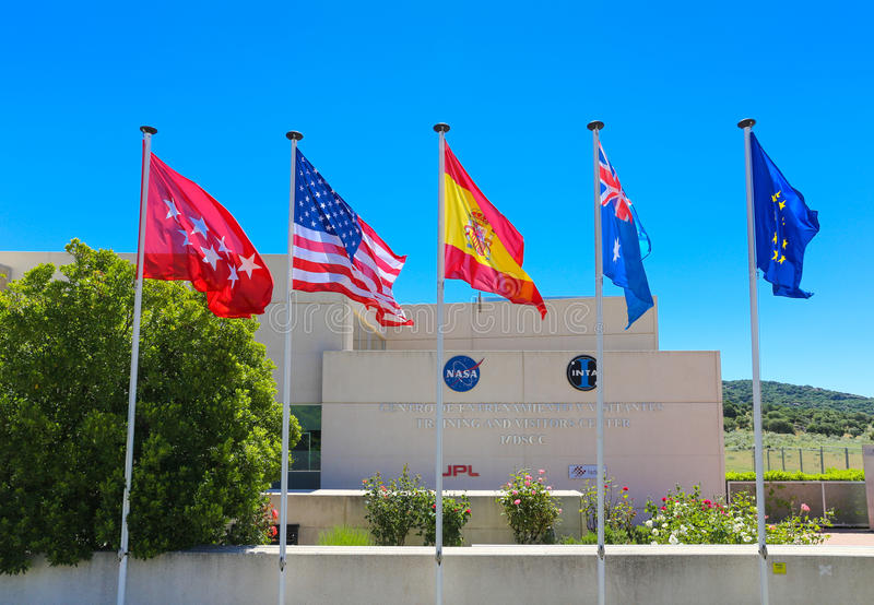 Madrid Deep Space Communications Complex NASA. Robledo de Chavela, Spain � May 15, 2015: The Madrid Deep Space Communications Complex is a ground station stock photos