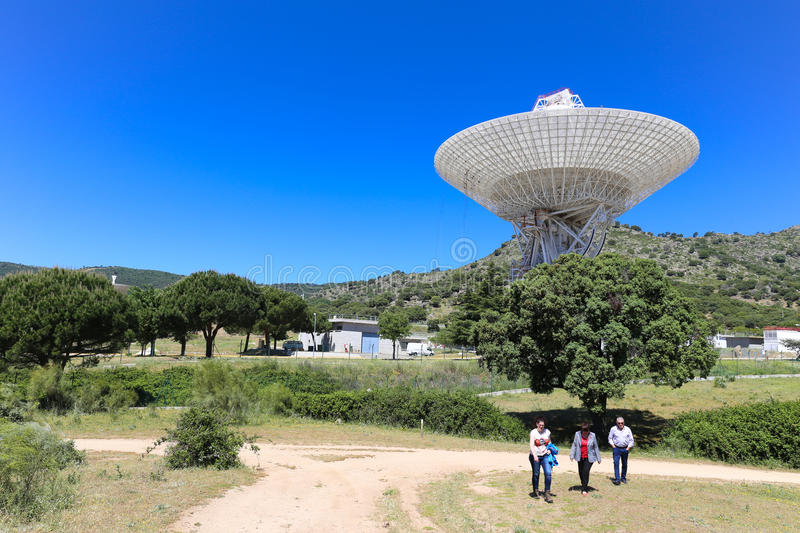 Madrid Deep Space Communications Complex NASA. Robledo de Chavela, Spain - May 15, 2015: The Madrid Deep Space Communications Complex is a ground station located stock photos