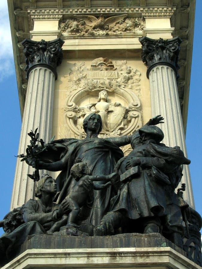 Madrid-Denkmal lizenzfreies stockbild