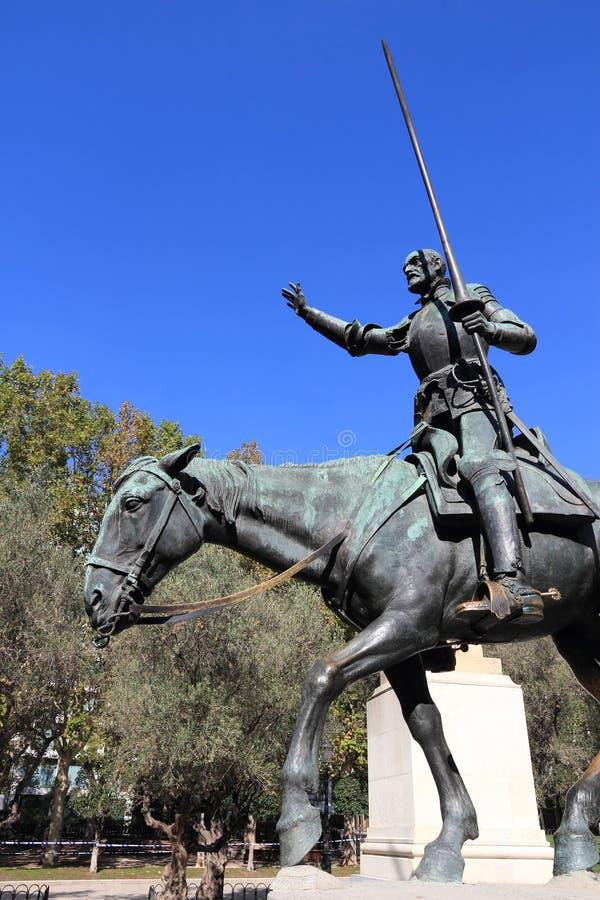 Madrid - Don Quixote royaltyfri fotografi