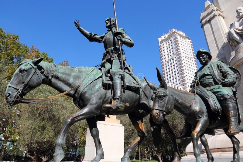 Madrid Don Quixote arkivbilder