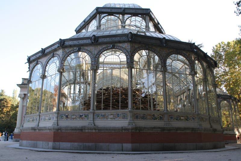 Madrid, el palacio cristalino fotos de archivo