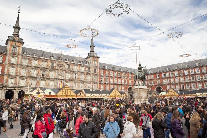 Madrid en décembre image libre de droits