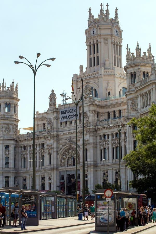 2017 05 31, Madrid, España Configuración de España Arquitectura de Madrid imagen de archivo