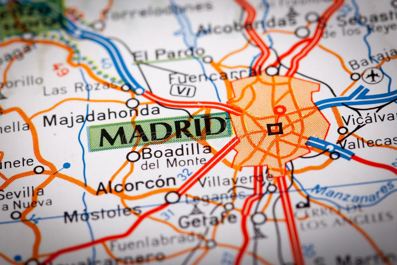 Madrid, Espagne photos stock