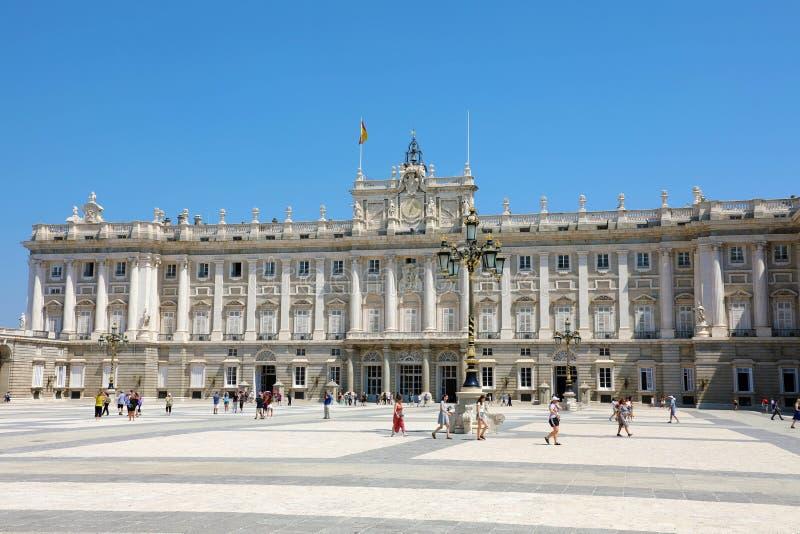 MADRID, ESPAGNE - 2 JUILLET 2019 : Royal Palace de Madrid, résidence principale de la famille royale espagnole image stock