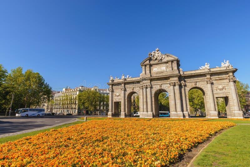 Madrid Espagne, Puerta de Alcala image libre de droits
