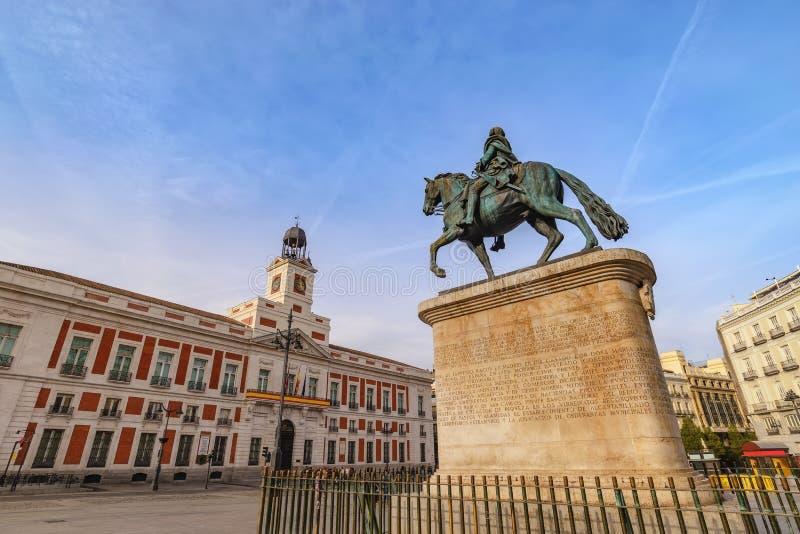 Madrid Espanha Puerta del Sol imagem de stock