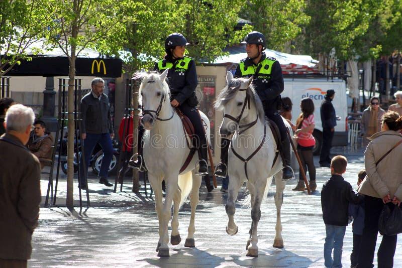 Madrid horse police royalty free stock photos