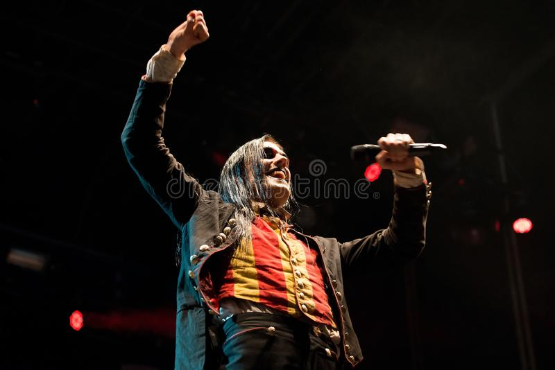 Avatar music band perform in concert at Download heavy metal music festival. MADRID - JUN 24: Avatar music band perform in concert at Download heavy metal music stock image