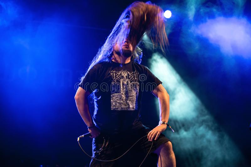 Wormed hard rock music band perform in concert at Download heavy metal music festival. MADRID - JUN 24: Wormed hard rock music band perform in concert at stock images