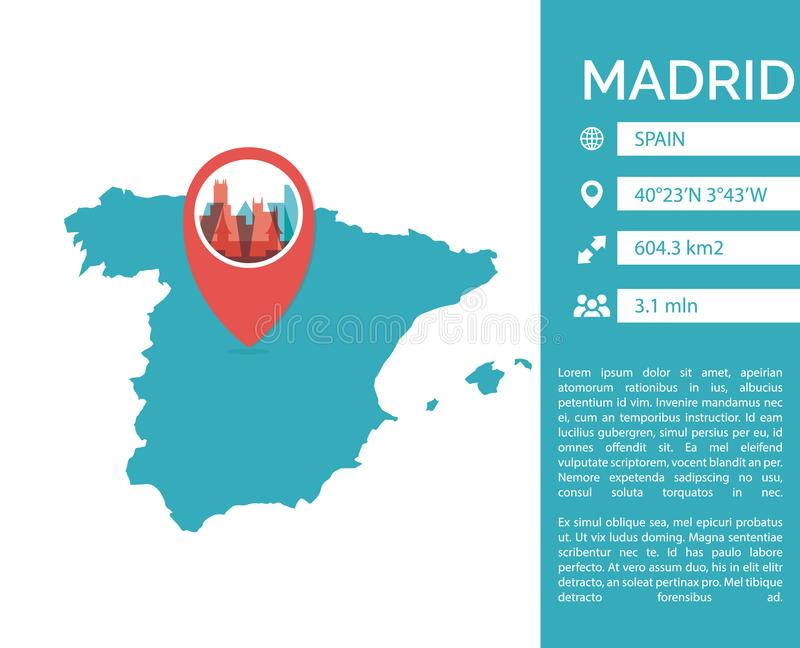 Madrid map infographic vector isolated illustration stock vector download madrid map infographic vector isolated illustration stock vector illustration of infographic banner gumiabroncs Gallery