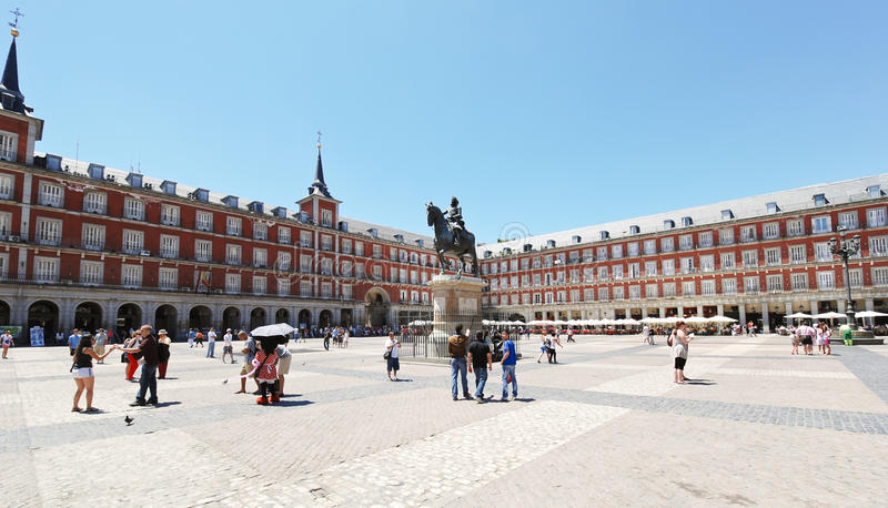 madrid mayor plac Spain zdjęcie stock