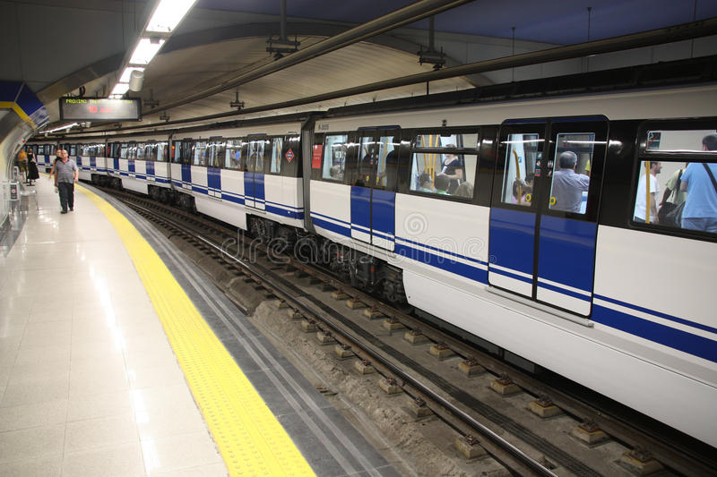 Madrid metro royalty free stock photography