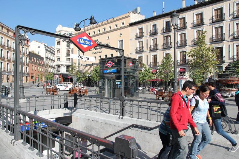 Madrid-Metro stockbilder