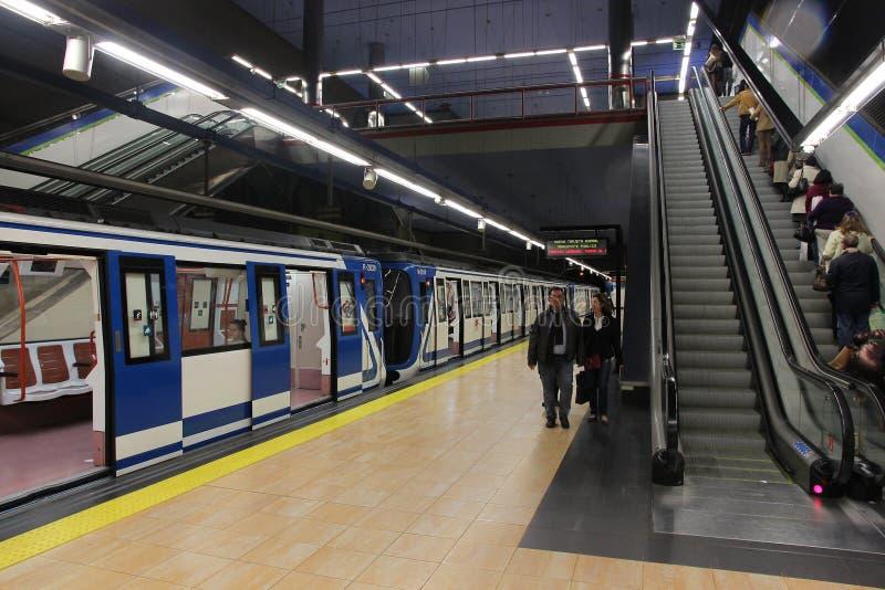 Madrid-Metro stockfotografie