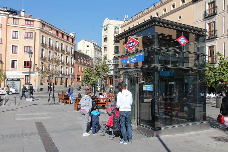Madrid-Metro stockfotos
