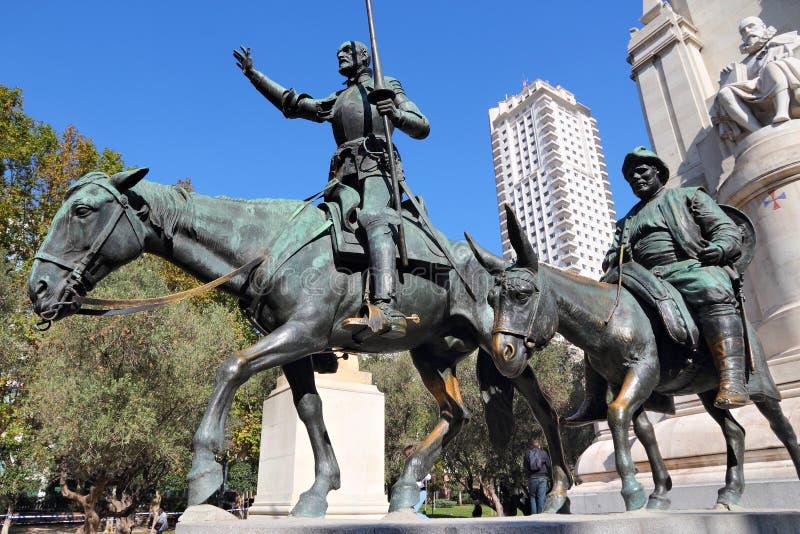 Madrid monument fotografering för bildbyråer