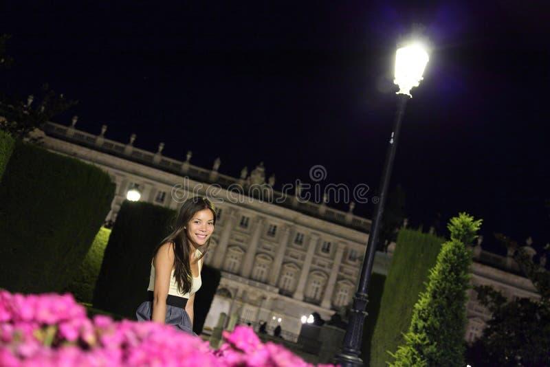 Madrid-Nachtfrau lizenzfreies stockfoto