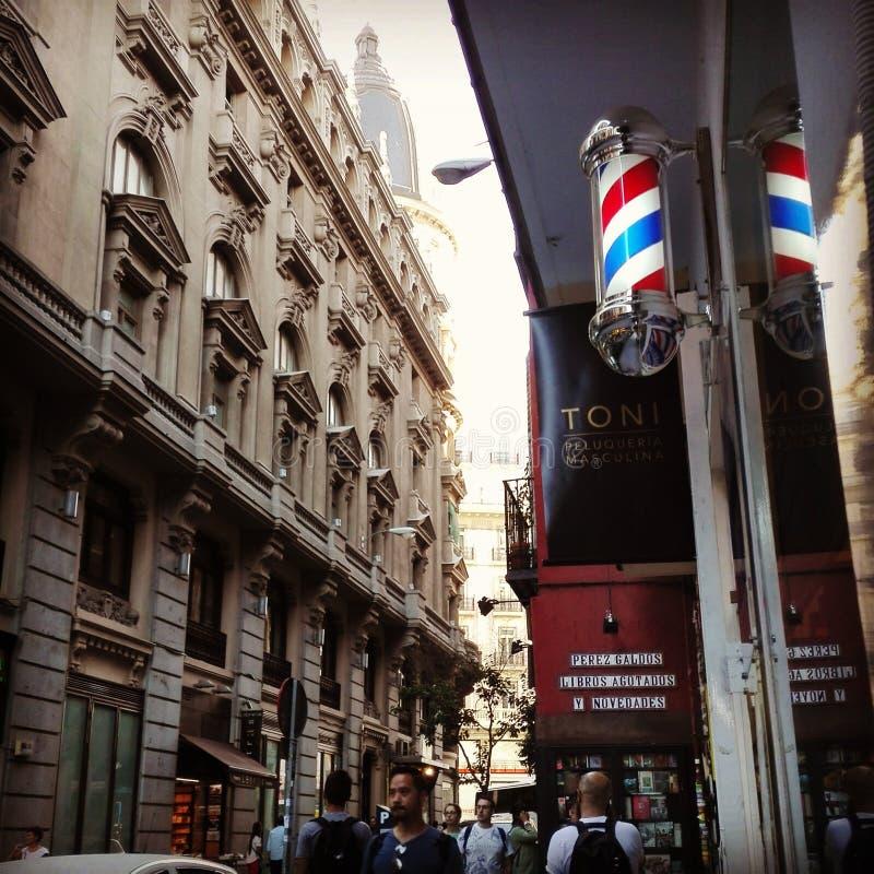 Madrid neoyorkino arkivbild