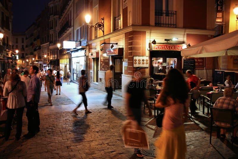 Madrid night royalty free stock photos