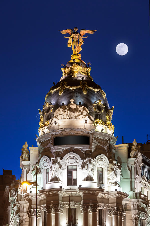 Madrid at night stock photography
