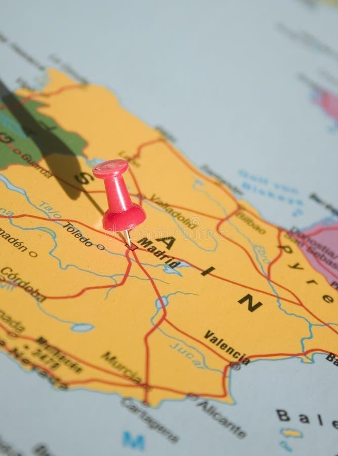 Madrid no mapa fotos de stock