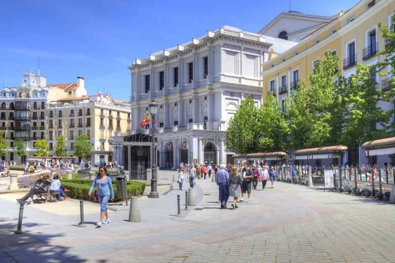 madrid Opern-Theater in der Piazza de Oriente stockbilder