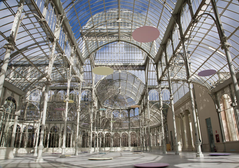 Madrid - Palacio de Cristal or Crystal Palace in Buen Retiro park royalty free stock photo