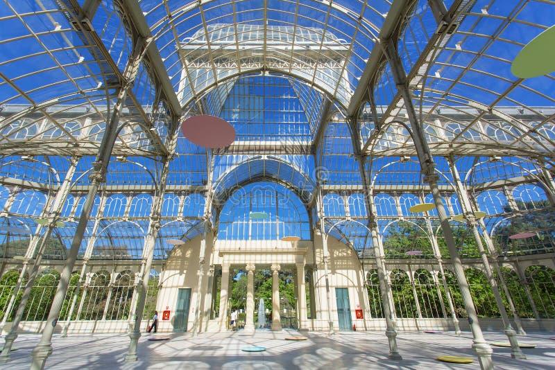Madrid, Palacio de Cristal royaltyfri fotografi